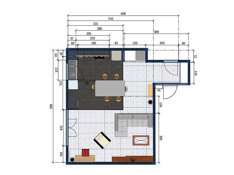 Aménagement Salon à Chaville Projet 3
