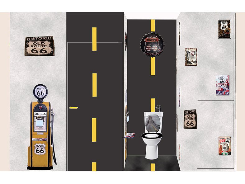 WC Route 66 projet