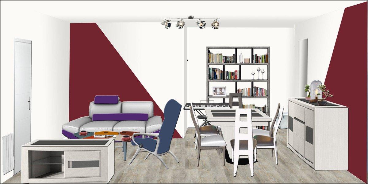 Décorateur d'intérieur EDD Salon Style contemporain