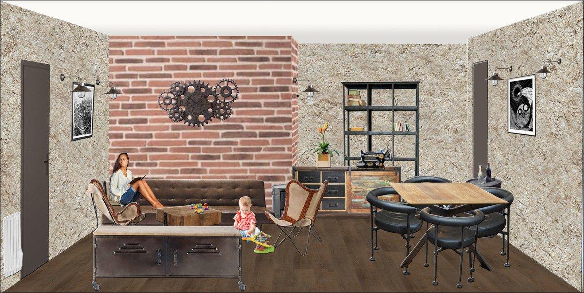 Décorateur d'intérieur EDD Salon Style industriel