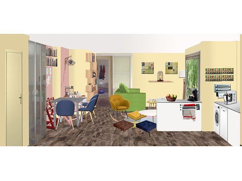 Salon à Marly-le-Roi projet Chambre