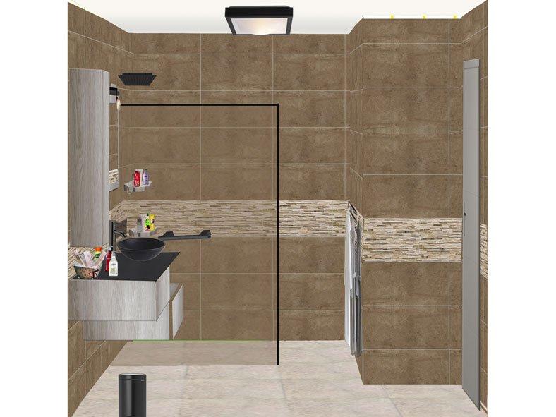 Salle de bain à Voisins le Bretonneux Projet